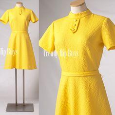 Vintage 60s Dress Mod Dress Mad Men Dress by TrendyHipBuysVintage, $59.00