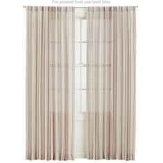 """Pippa Persimmon 50""""x96"""" Curtain Panel   Crate and Barrel"""