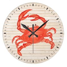http://www.zazzle.com/beach_crab_wall_clock_srf-256174423540701731  ... Beach Crab Wall Clock - SRF