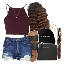 """""""5/1/16"""" by lookatimani ❤ liked on Polyvore featuring H&M, MICHAEL Michael Kors, Billabong, Topshop and Gucci"""