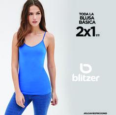Todas las #blusas básicas al 2x1. ¡Sólo en blitzer!