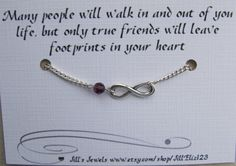 Friendship Infinity Chain Charm Bracelet with AB by JillEliz123, $12.00