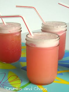 Refreshing Sherbet Floats -for parties