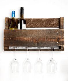 Dark Walnut Little Elm Wine Rack