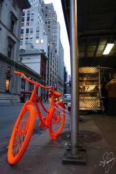 Orange bike loud bike (via Dreamscape Photographs) Parasols, Orange Aesthetic, Terracota, Orange You Glad, Bicycle Art, Orange Crush, Orange Is The New Black, Happy Colors, Cool Bikes