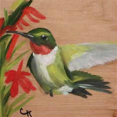 """Daily Paintworks - """"Hummingbird no. 3"""" by Claire Henning"""