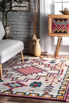 Tribal Crosshatch Medallion Rug