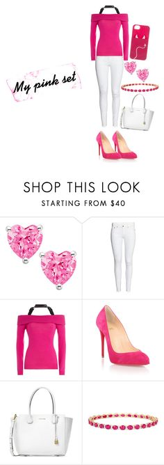 """Sans titre #227"" by kokoxpops ❤ liked on Polyvore featuring Moschino, Christian Louboutin, Michael Kors, Effy Jewelry and Kate Spade"