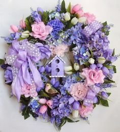 Pinterest mothers day Wreaths | Spring Wreath Easter Wreath Mother's Day Wreath by WreathbyHH, $84.95
