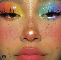 makeup for winter Edgy Makeup, Eye Makeup Art, Colorful Eye Makeup, Skin Makeup, Weird Makeup, Cool Makeup Looks, Cute Makeup, Pretty Makeup, Perfect Makeup