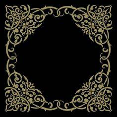 Alhambra Cartouche stencil