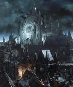 Cité fantastique Dark fantasy art Fantasy city Dark souls art