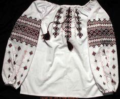Handmade Ukrainian hand embroidered women's blouse #06-4132 from Western Ukraine, sold on AllThingsUkrainian.com