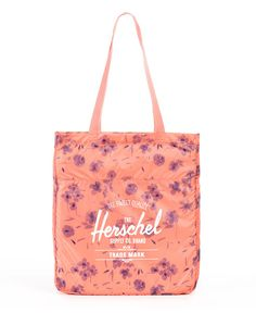 HERSCHEL SUPPLY CO. - PACKABLE TOTE BAG (RUBY BURNT CORAL)