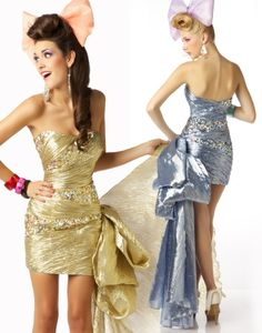 Gorgeous prom gowns featuring sequins and beads, elegant lace, romantic florals, and daring styles. Discover why Mac Duggal designs are the dream dresses of so many girls Short Strapless Prom Dresses, Gold Prom Dresses, Bridesmaid Dresses Online, Homecoming Dresses, Cute Dresses, Beautiful Dresses, Gold Dress, Nye Dress, Awesome Dresses
