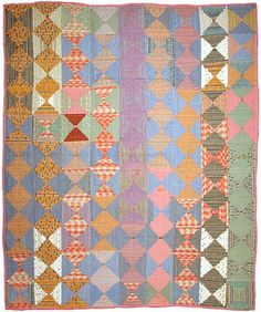 Antique Courthouse Steps quilt. Inspiration for Bee Happy Bee Quilt by The Quilt Engineer (Latifah Saafir)