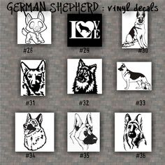 GERMAN SHEPHERD Vinyl Decals  Vinyl Sticker Car Window - Window stickers for cars
