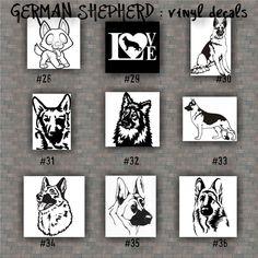 GERMAN SHEPHERD Vinyl Decals  Vinyl Sticker Car Window - Window stickers for cars