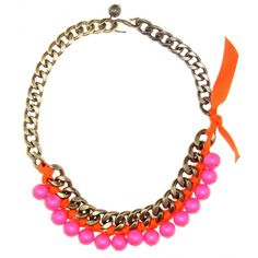 Lanvin Beaded Chain-Link Necklace