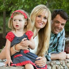 David Osmond (Virl's son) and his family, wife Brook and daughter Geogiana.