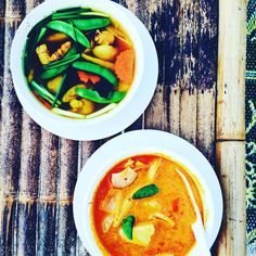 """Soup Wonderland Check out the clear soup with fresh whole turmeric and ginger roots #thailand"""