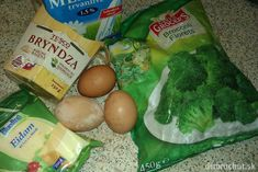 Fotorecept: Zapekaná brokolica s bryndzou Eggs, Meat, Chicken, Breakfast, Food, Beef, Morning Coffee, Meal, Egg
