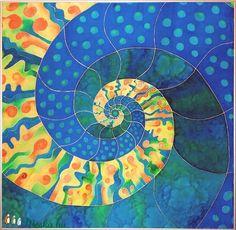 Kézzel festett egyedi, saját tervezésű selyem kép