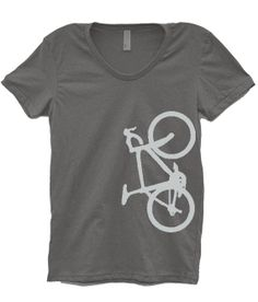 Women's Asphalt Bicycle TShirt by OhSudzGifts on Etsy, $18.00
