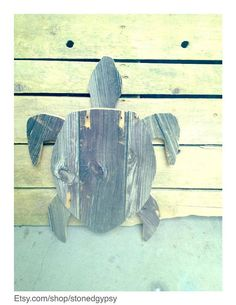 Hand made reclaimed wood giant sea turtle wall by StonedGypsy, $80.00