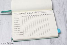 Bullet Journal - Haushaltstracker