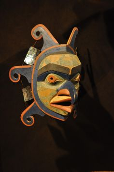 https://flic.kr/p/ae3j6y | _DSC9905 First Nations Mask from Northwest Coast, British Columbia | kwakwaka'wakw sun mask. This is one of the many masks in which the First Peoples expressed their traditions or were used in ceremonies and are part of the history of human cultures of B.C. including the Tlingit, Haida,Tsimshian, Kwakwaka'wakw, Nuu-chah-nulth and other First Nations cultures. The mask is in the First Peoples Gallery at the Royal B.C. Museum, Victoria, Britisth Columbia and is in...