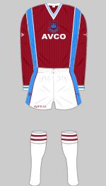 West Ham 1987-1989 Kit Football Kits, West Ham, Cheer Skirts, The Unit, Soccer Jerseys, Sports, Soccer Kits, Football Shirts, Hs Sports