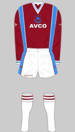 West Ham 1987-1989 Kit West Ham, Football Kits, The Unit, Soccer Jerseys, Sports, Soccer Kits, Football Shirts, Hs Sports, Soccer Equipment