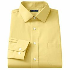 Croft and Barrow Classic-Fit Solid Broadcloth Spread-Collar Dress Shirt