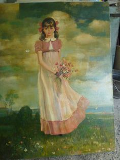 Girl with Flowers, Rico Tomaso, classical style, DAC Collection - Donald Art Company Collection
