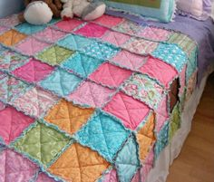 Easiest rag quilt made from old clothes you've out grown or you bought at a thrift store.Rated Easy great beginner quilt.