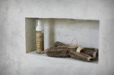 Concrete Bath Niche by Michaela Scherrer Interior Design