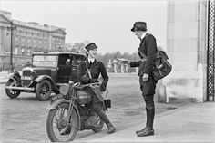 The Wrens: Female Dispatch Riders in WWII ~ Riding Vintage Battle Of Britain, Lady Biker, Vintage Bikes, Vintage Motorcycles, Before Us, Royal Navy, Women In History, World War Ii, Wwii