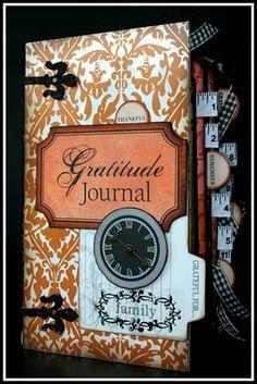 Gratitude Journal using Teresa Collins Designs Giving Thanks line