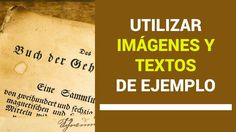 Utilizar Textos e Imágenes de ejemplo en WordPress