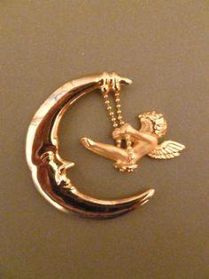 Angel Swinging on the Moon - Magnet