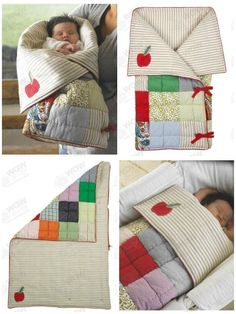 Baby Knitting Patterns Sleeping Bag Snuggle Me Baby Sleeping Bag Baby Sewing Projects, Sewing For Kids, Quilting Projects, Quilt Baby, Baby Kind, Baby Love, Cocoon Bebe, Baby Patterns, Sewing Patterns
