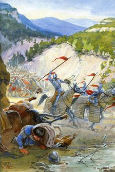 Battle of Myriokefalon 1176..Byzantium and allies vs. Seljuk Turks