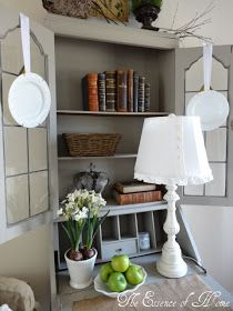 The Essence of Home: White Dishes--love the hanging plates Paint Colors For Home, House Colors, Hanging Plates, White Dishes, Painted Furniture, Bookcase, Sweet Home, Shelves, Living Room
