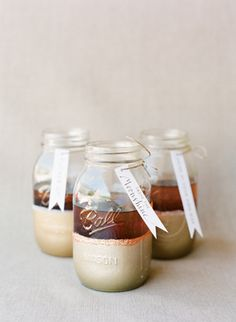Gorgeous painted Ball jars for drinking glasses via @Southern Weddings Magazine/ Melissa Schollaert #wedding