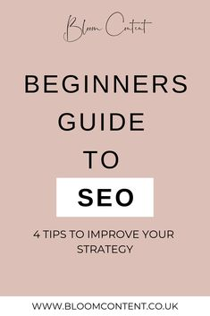 A beginners guide to SEO (Search Engine Optimization) and 4 tips to improve your SEO strategy! Website Optimization, Search Engine Optimization, Basic Website, Seo For Beginners, Virtual Assistant Services, Seo Strategy, Online Advertising, Seo Marketing, Seo Tips