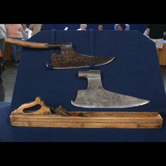 18th century Austrian hewing axes and jointer plane.