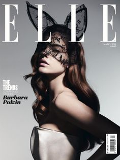 Barbara Palvin covers the March issue of Elle UK.