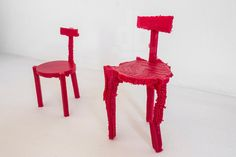 3D printed chairs made from noise by estudio guto requena - designboom | architecture & design magazine