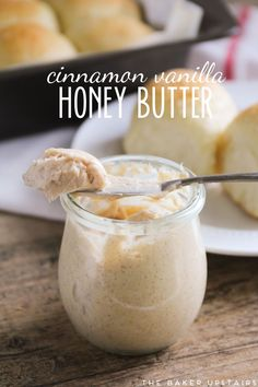 Cinnamon vanilla honey butter - so flavorful and sweet and exactly what honey butter should be!